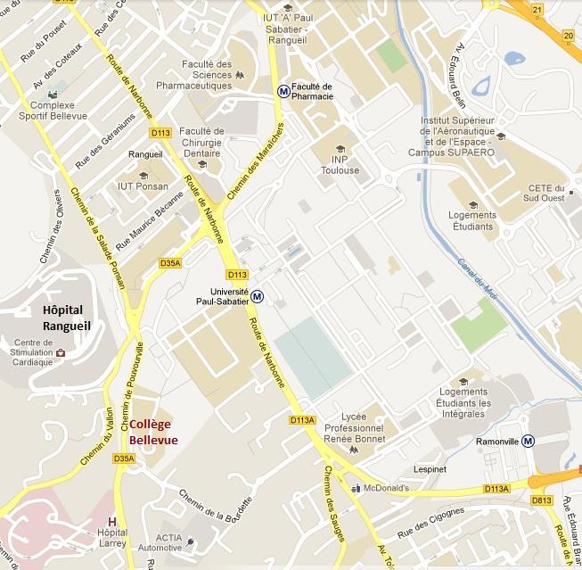Plan accès collège Bellevue - détail