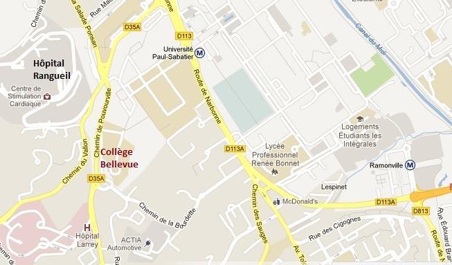 Plan accès collège Bellevue